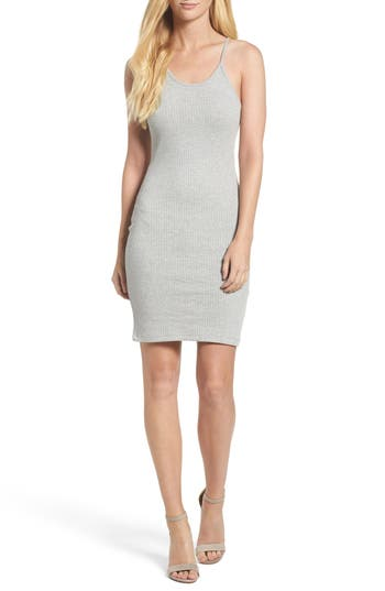 French Connection Tommy Ribbed Slipdress, Grey