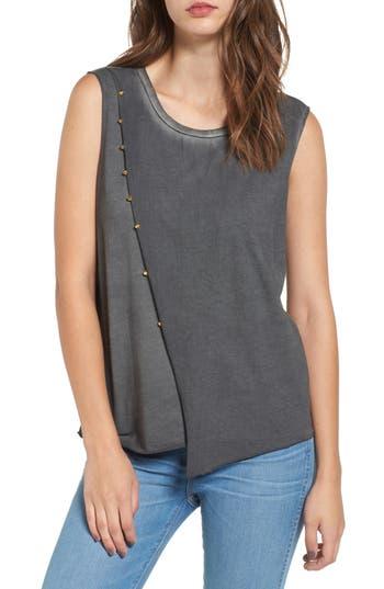 True Religion Brand Jeans Asymmetrical Tank, Grey