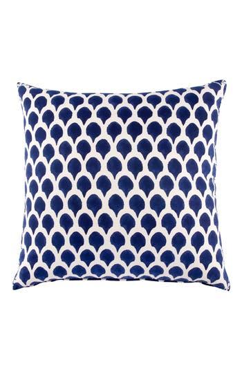 John Robshaw Nadole Indigo Accent Pillow, Size Euro - Blue