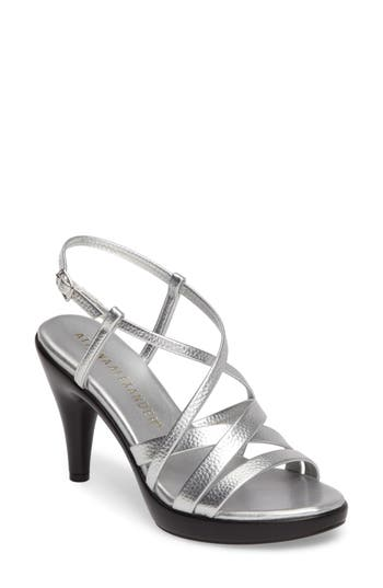 Athena Alexander Gabrielaa Cross Strap Sandal- Metallic