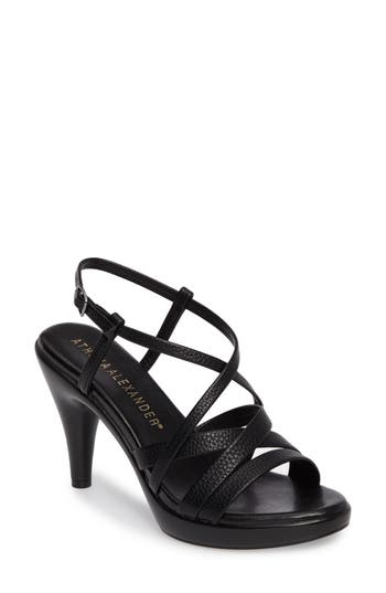 Athena Alexander Gabrielaa Cross Strap Sandal- Black