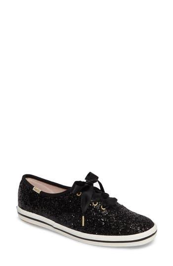 Keds For Kate Spade New York Glitter Sneaker, Black