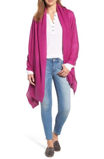 Women's Halogen Ottoman Rib Cashmere Wrap, Size One Size - Purple