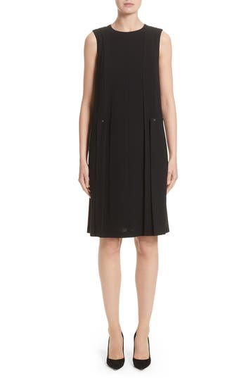 Lafayette 148 New York Zaida Finesse Crepe Dress, Size Petite - Black