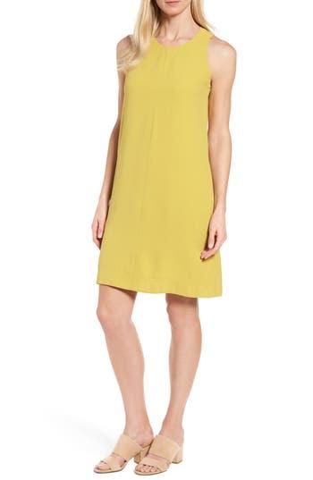 Eileen Fisher Silk A-Line Dress, Green