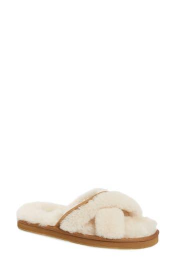 Ugg Abela Genuine Shearling Flip Flop, Brown
