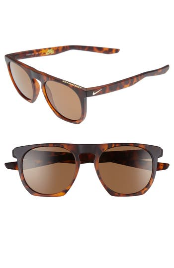 Nike Flatspot 52Mm Sunglasses - Tortoise