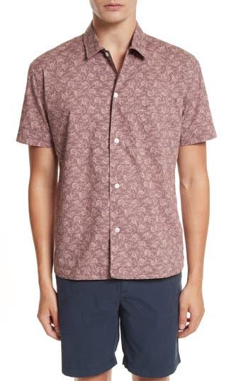 Men's Burberry Borrows Slim Fit Print Sport Shirt
