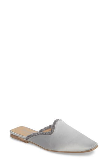 Shellys London Kat Fringed Loafer Mule Metallic