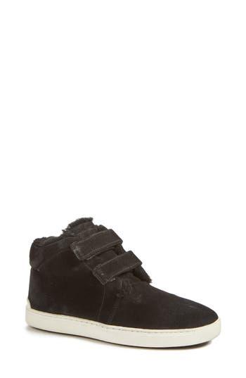 Rag & Bone Kent Genuine Shearling Lined Sneaker, Black