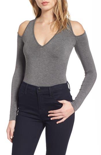 Bailey 44 Patricia Cold Shoulder Bodysuit, Grey