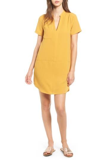 Lush Hailey Crepe Dress, Yellow