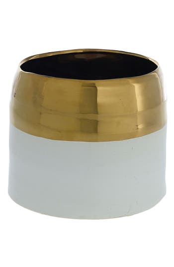 Accent Decor Claire Ceramic Pot, Size One Size - Metallic