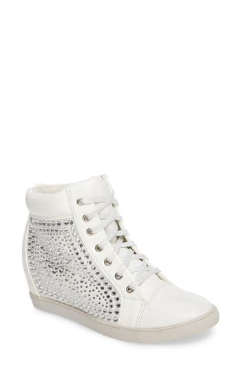 Lauren Lorraine Hidden Wedge Sneaker, White