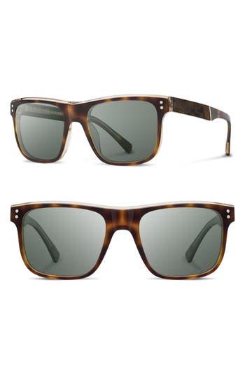 Shwood Monroe 55Mm Polarized Sunglasses - Brindle/ Elm/ G15Pol