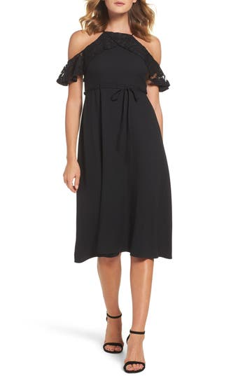 Gabby Skye Cold Shoulder Midi Dress
