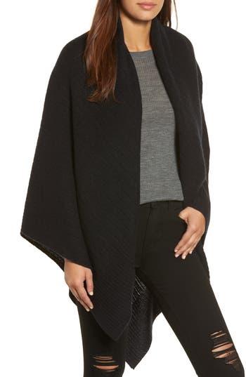 Women's Halogen Cashmere Wrap, Size One Size - Black