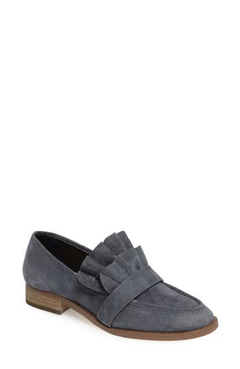 Pour La Victoire Tenley Ruffled Loafer- Blue