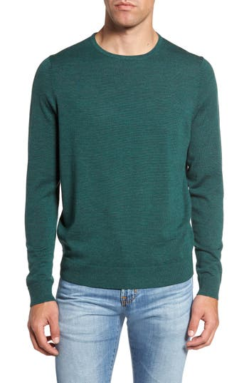 Big & Tall Nordstrom Shop Crewneck Merino Wool Sweater, Green