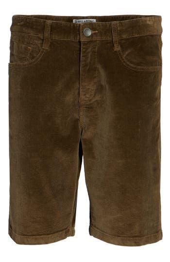 Billabong Outsider Corduroy Shorts, Brown