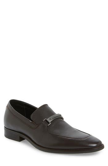 Men's Calvin Klein Rufus Embossed Apron Toe Loafer