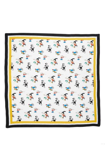 Women's Stella Mccartney Cartoon Graphic Silk Scarf