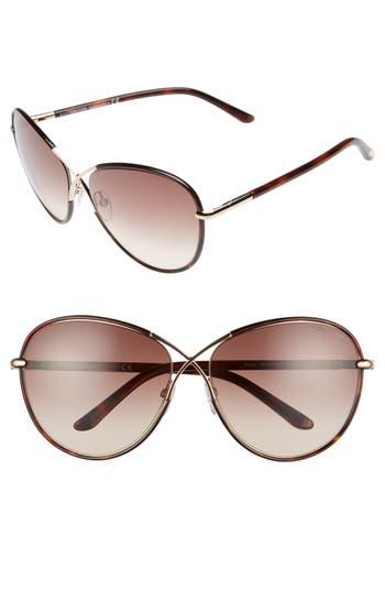 Tom Ford Rosie 62Mm Gradient Butterfly Sunglasses - Havana/ Gradient Brown