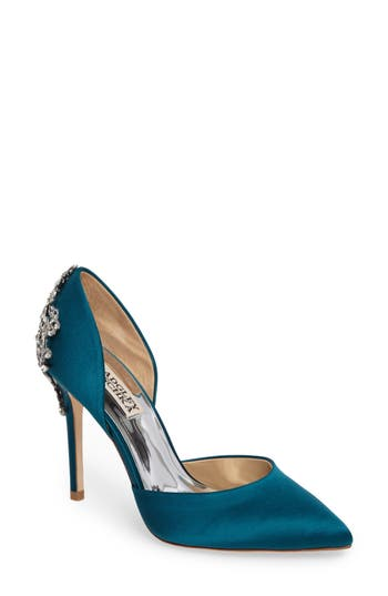 Badgley Mischka Karma Embellished Pump, Green
