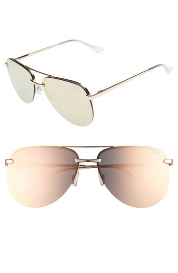 Quay Australia The Playa Aviator Sunglasses - Pink/ Gold