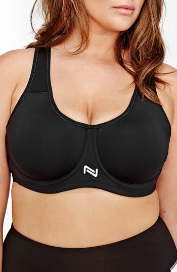 Plus Size Nola Underwire Sports Bra, H (5D US) - Black