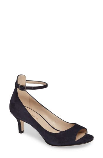 Pelle Moda Bey Open Toe Pump, Blue