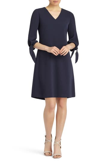 Lafayette 148 New York Kenna Tie Sleeve Fit & Flare Dress, Size Petite - Blue