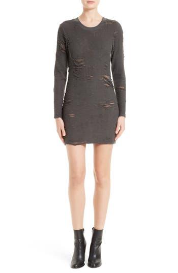 Iro Cevoc Distressed Dress, Grey