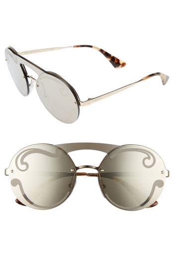 Women's Prada Round Rimless Sunglasses - Antique Copper