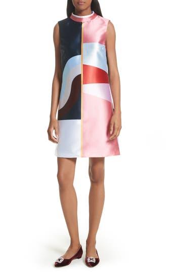 Ted Baker London Niema Colorblock Tunic Dress, Blue