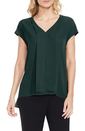 Women's Vince Camuto Mixed Media Blouse