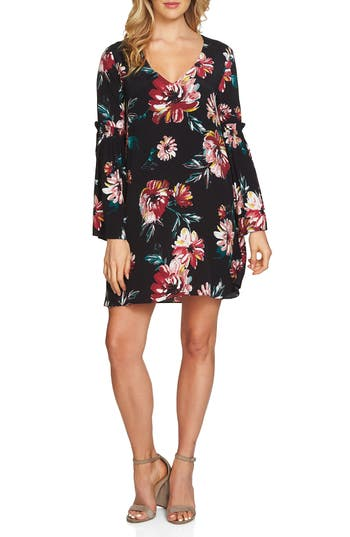 1.state Floral Print Swing Dress, Black
