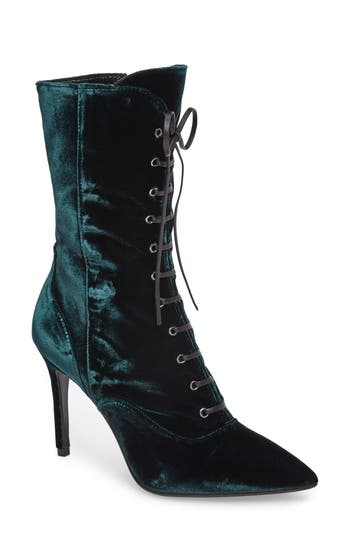 Charles David Loretta Pointy Toe Bootie Green