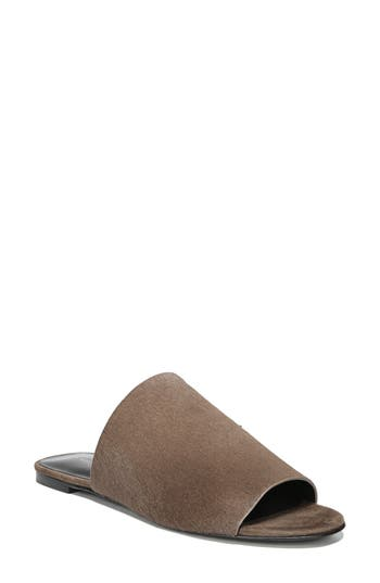 Via Spiga Heather 2 Genuine Calf Hair Slide Sandal, Brown
