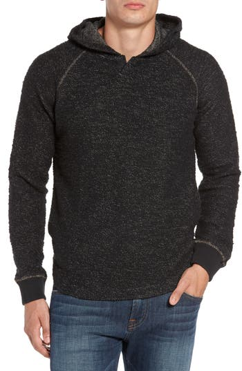 Jeremiah Mission Twisted Yarn Hooded Sweater, Black