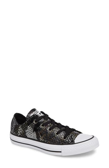 Converse Chuck Taylor All Star Ox Leather Sneaker, Black