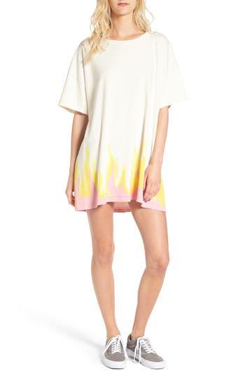Women's Wildfox Wildfire T-Shirt Dress, Size X-Small - Ivory