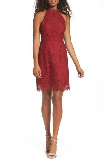 Bb Dakota Cherie Lace Sheath Dress, Red