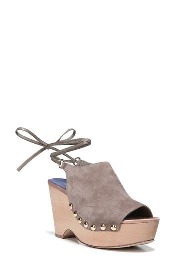 Diane Von Furstenberg Bali Wedge Sandal- Beige
