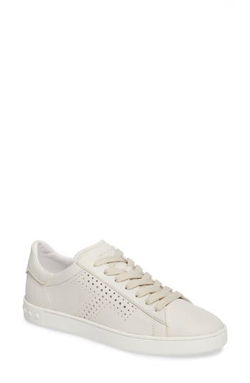 Tods Perforated T Sneaker, White