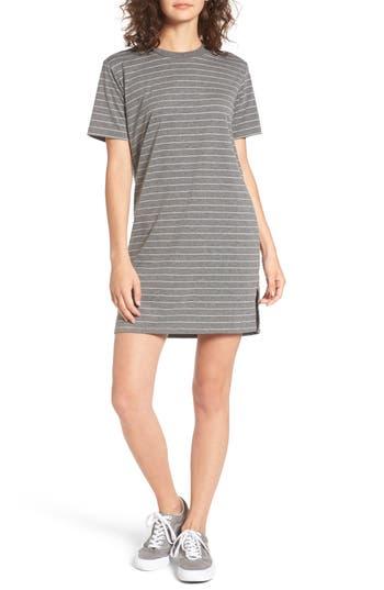Cotton Emporium Stripe T-Shirt Dress, Grey