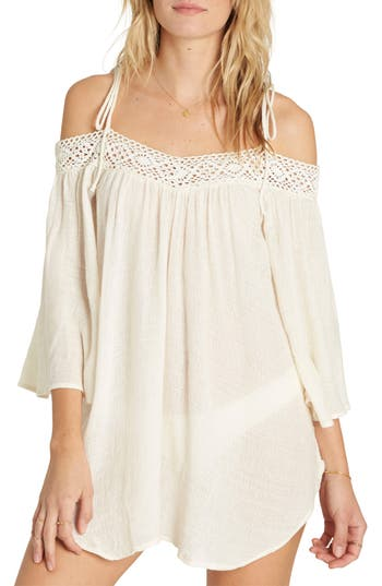 Billabong Breeze On Off The Shoulder Cover Up, White