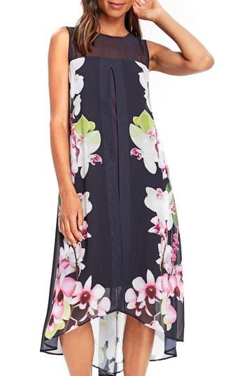 Wallis Summer Orchid Handkerchief Hem Dress, US / 8 UK - Blue