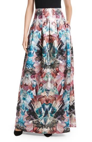 Women's Ted Baker London Frelan Mirrored Minerals Print Maxi Skirt