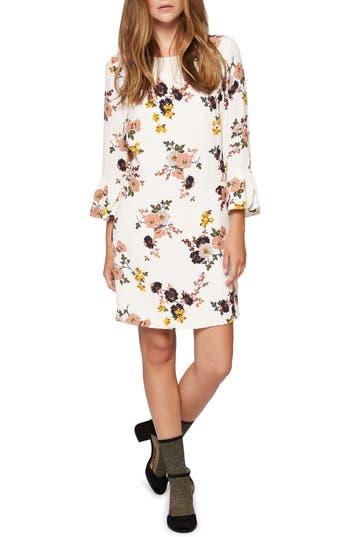 Sanctuary Hazel Flower Print Dress, Ivory